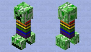 Party mode creeper Minecraft Mob Skin
