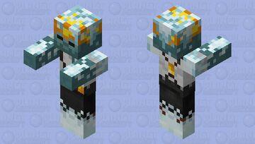 Frozen Zombie Miner / remade Minecraft Mob Skin