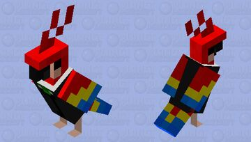 Parrot in a suit Minecraft Mob Skin