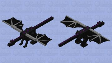 Obsidian Spike Dragon Minecraft Mob Skin