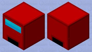 Red crewmate II Minecraft Mob Skin