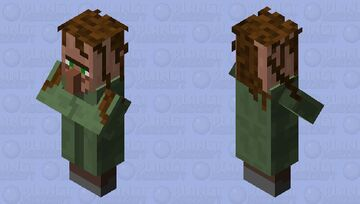 Happy villager with hair Minecraft Mob Skin
