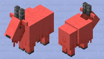 dyed goat-red Minecraft Mob Skin