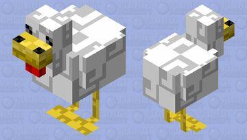 Retro Game Chicken Minecraft Mob Skin