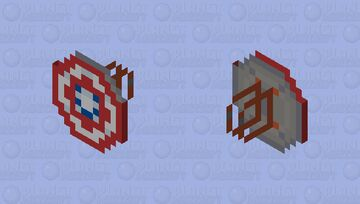 Captain America's Shield (MCU Phase 4-) [CUSTOMS] Minecraft Mob Skin