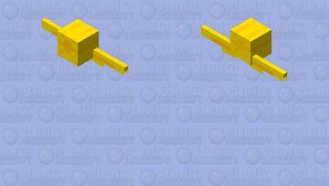 The Golden Snitch Minecraft Mob Skin