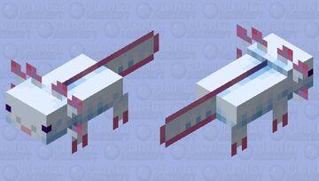More Realistic Axolotl (Cyan) Minecraft Mob Skin