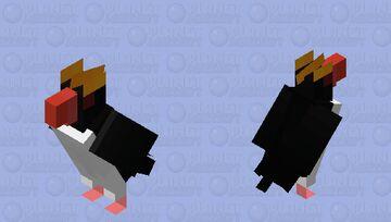 Pinguim-de-testa-amarela (Eudyptes chrysolophus) Minecraft Mob Skin