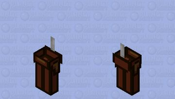 Among us brown / zombie / low resolution / remade Minecraft Mob Skin