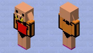 Piglin girl version Minecraft Mob Skin