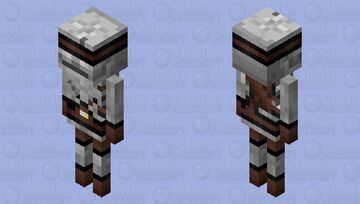 Skeleton-Rusher (v.4) Minecraft Mob Skin