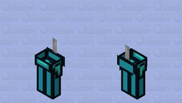 Among us cyan / zombie / low resolution / remade Minecraft Mob Skin