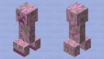 a normal creeper got pink balloons around it. OR IS IT JUST THAT?! (read dec.) Minecraft Mob Skin