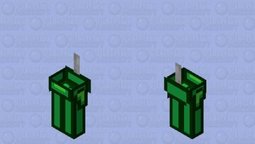 Among us lime / zombie / low resolution / remade Minecraft Mob Skin
