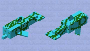Seaweed dolphin Minecraft Mob Skin