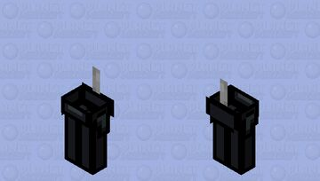 Among us black / zombie / low resolution / remade Minecraft Mob Skin