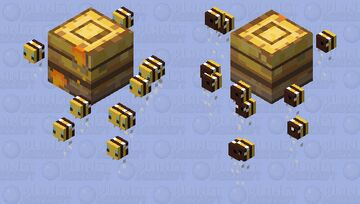 Honey Hive of Bees Minecraft Mob Skin