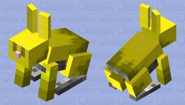 Yellow Rabbit Minecraft Mob Skin