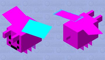 pink happy bee with broken wing Minecraft Mob Skin