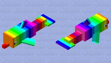 Rainbow 🌈 dolphin 🐬 Minecraft Mob Skin