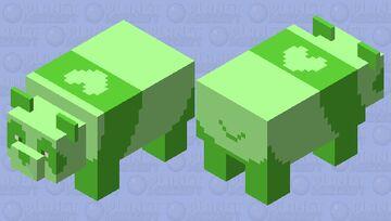 The BlossomBuns Green Panda Minecraft Mob Skin