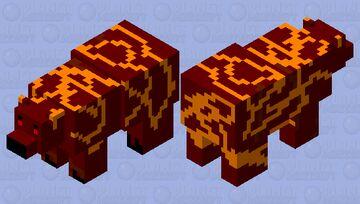 Magma Bear (polar bear but magma!) Minecraft Mob Skin