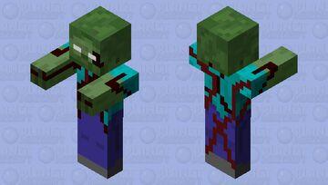 Bloody Herobrine Zombie Minecraft Mob Skin