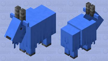 dyed goat-blue Minecraft Mob Skin