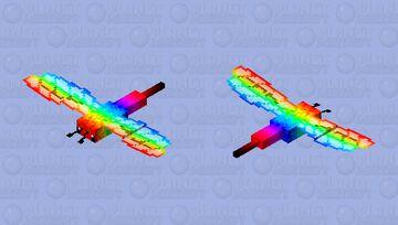 Rainbow dragonfly Minecraft Mob Skin