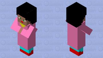 GIRL VILLAGER Minecraft Mob Skin