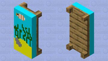 Fishy sleeping Minecraft Mob Skin