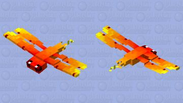 Fire dragonfly ( flying fire ) Minecraft Mob Skin