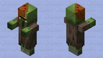 half zombie villager Minecraft Mob Skin