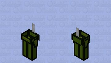 Among us Olive / zombie / low resolution / remade Minecraft Mob Skin
