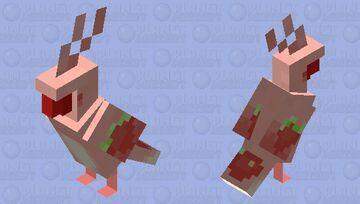 strawberry parrot! Minecraft Mob Skin