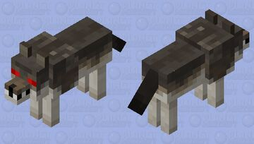 Angry Wolf (Remade) Minecraft Mob Skin
