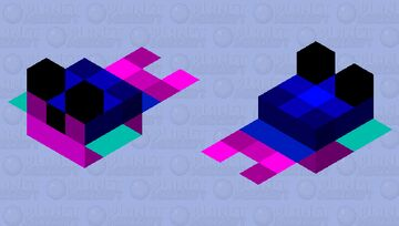 pink and blue pufferfish (small) Minecraft Mob Skin