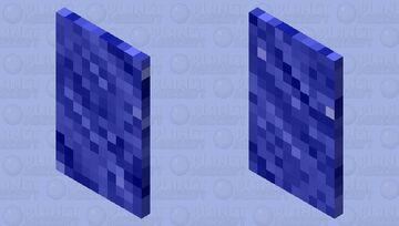 Detailed blue cape Minecraft Mob Skin