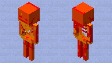 squelette de feu Minecraft Mob Skin