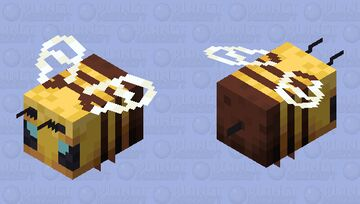 Slightly better and more detailed HD bee skin Minecraft Mob Skin