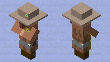 Sheriff villager Minecraft Mob Skin