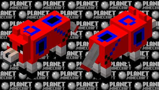 Ruby Armored Dog Minecraft Skin