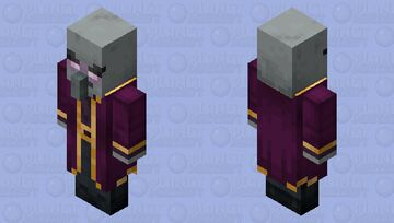 The Mage Illager/Magic Illager (Not Variant) (Retexture) Minecraft Mob Skin