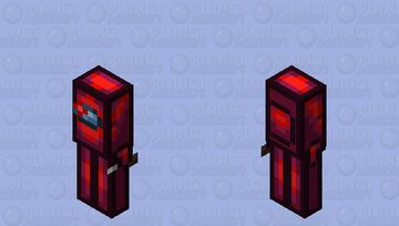 Among us Red (Imposter) (Retexture) Minecraft Mob Skin
