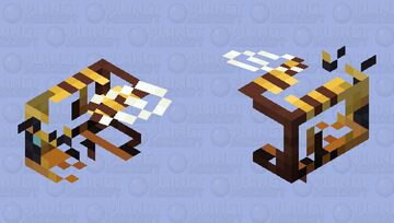 Blipped Bee Minecraft Mob Skin