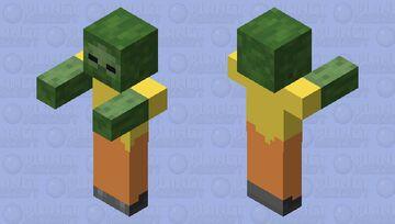 orange and yellow zombie Minecraft Mob Skin