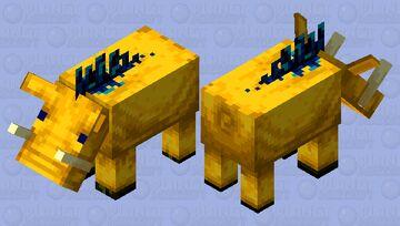 Yellow Hoglin Minecraft Mob Skin