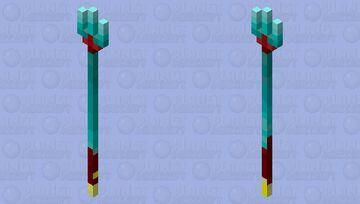 The warped trident Minecraft Mob Skin