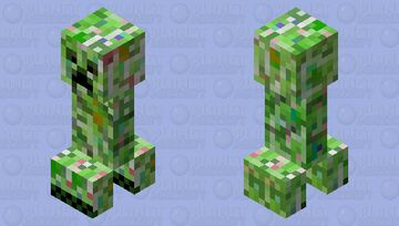 corrupted creeper (charged creeper) Minecraft Mob Skin