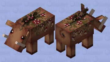Hosilla the Forest Hoglin Minecraft Mob Skin